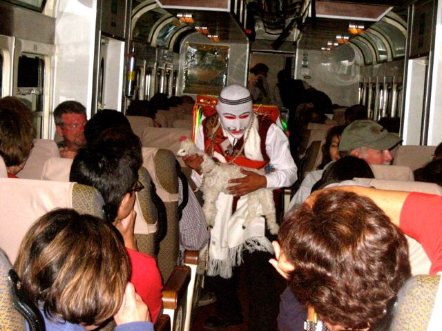 Fashion show on the return train-Machu Picchu