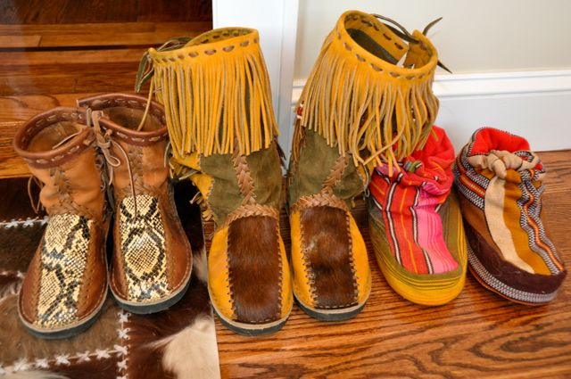 Snake-skin-and-horse-hair-boots-from-Guatemala