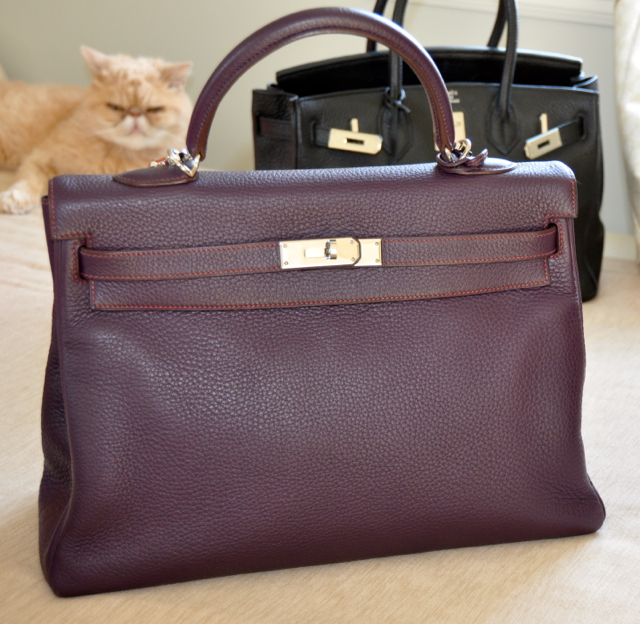 Hemes Kelly bag 35cm purple
