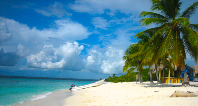 beautful beach at dominican republic