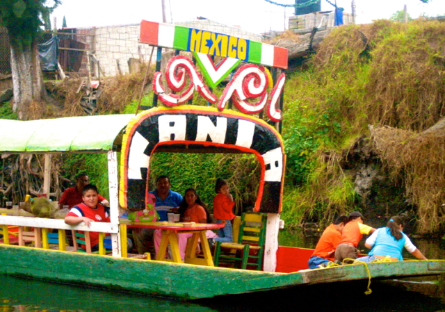 boating at xochimilco-mexico