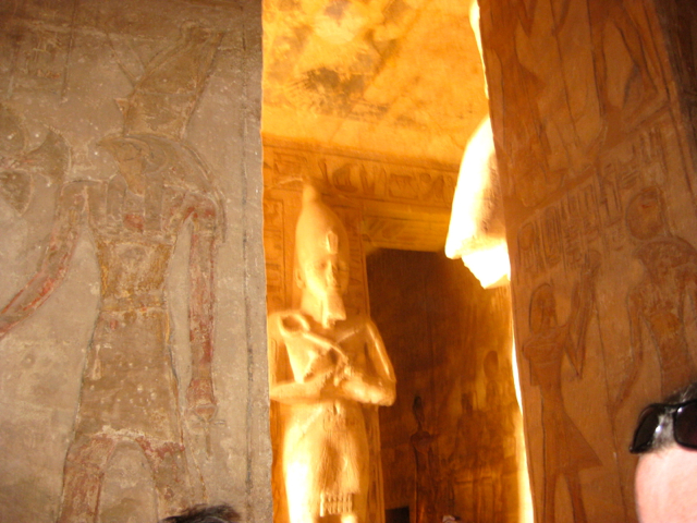 inside the temple in Aswan