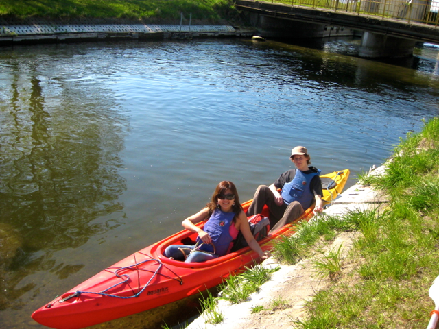 kayaking at Gdansk