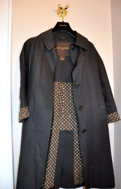 Black LV trench Coat
