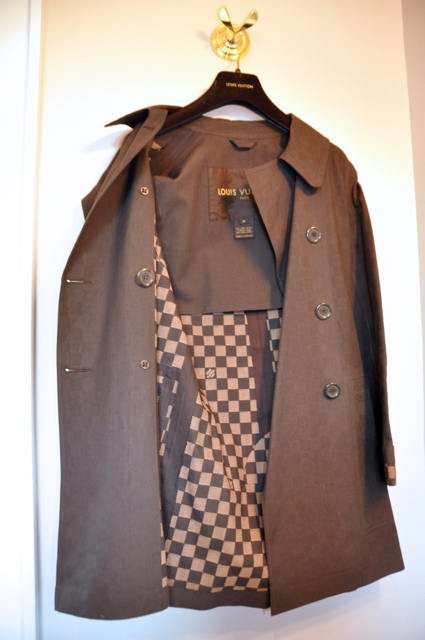 Brown LV trench Coat