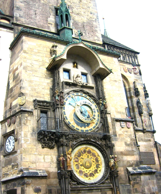 Clock tower at Prague