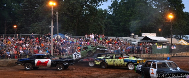 Demolitian derby race at New Jersey