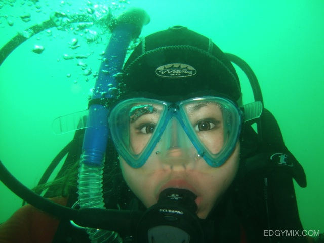 Edgymix Dyr suit diving at beagle channel