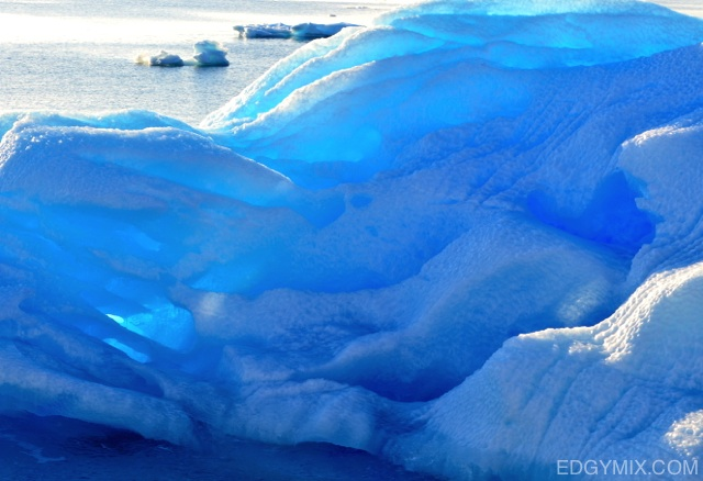 Ice color in Antarctica
