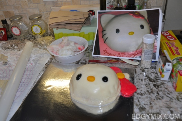 My hello Kitty Fondant Cake