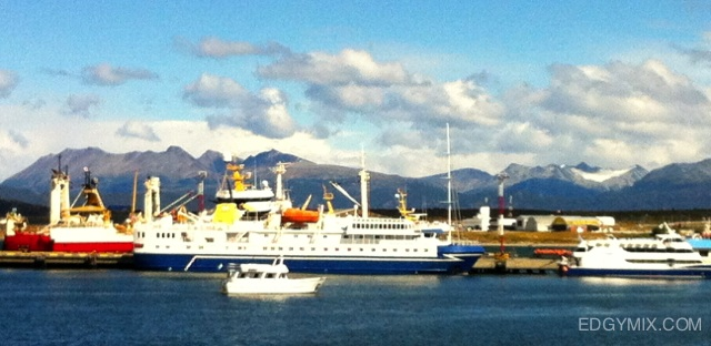 My ship to Antarctica at Ushuaia