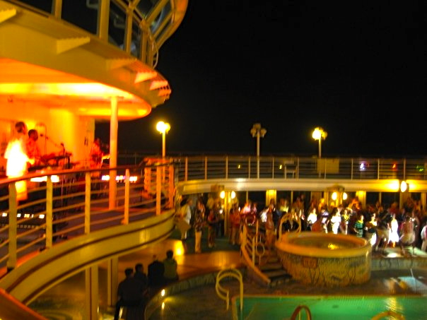 Poolside show on Princess Cruise