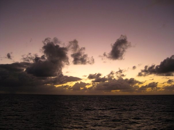 beautiful sunset in Southern Caribbean