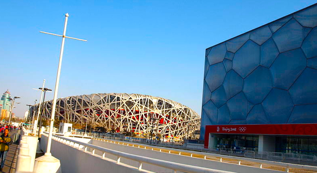 bird nest plus water cube-beijing