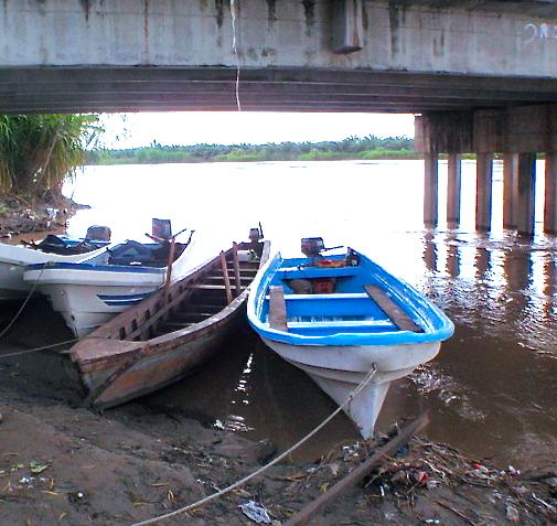 boat at Honduras border