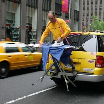 extreme ironing in NYC