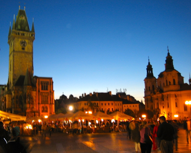 prague 's night market