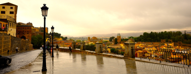 Rainy day In Toledo Spain