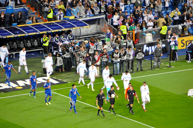 Real Madrid against millonarios