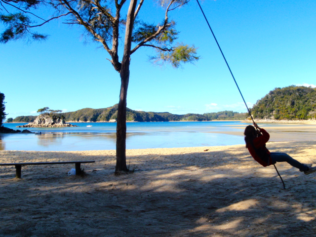 on-a-swing-in-New-Zealand