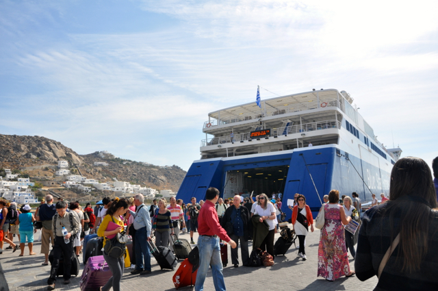 Blue star ferry to Mykonos