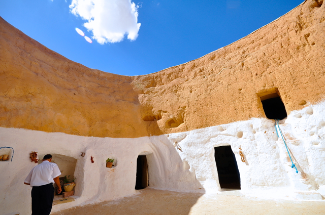 Cave house in Tunisia