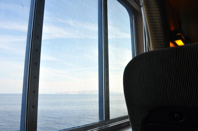 First Class in Blue star ferry-to Mykonos Island