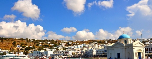 Cat's View of Mykonos,Greece