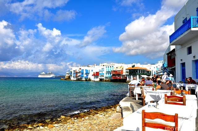 beach at mykonos, Greece