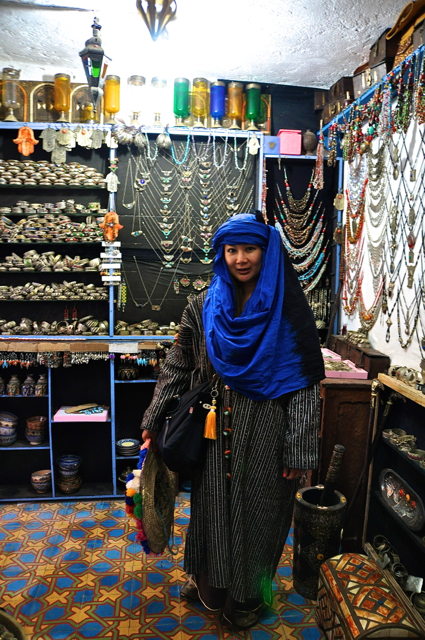 at a local store of chefchaouen morocco