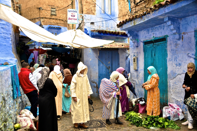 at chefchaouen morocco