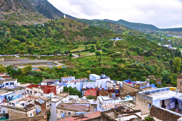 blue houses in chefchaouen morocco