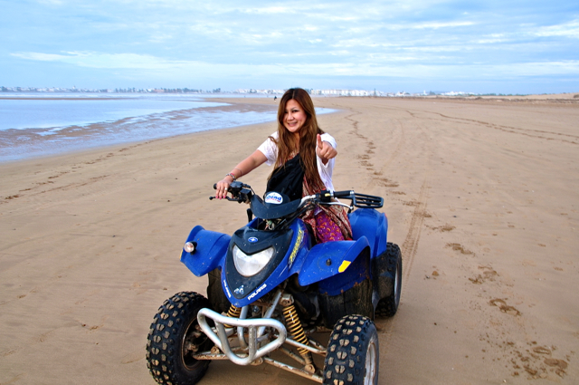 edgymix riding quad bike at essaouira morocco
