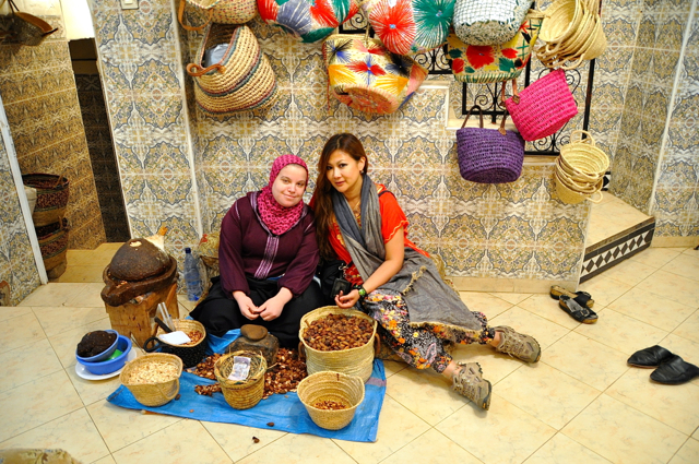 making argan oil at Fes