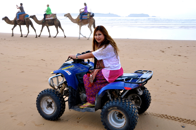 riding a Quad bike in essaouira morocco