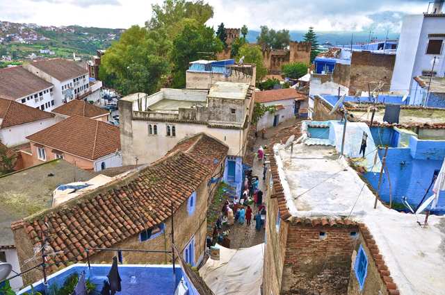 street view chefchaouen morocco