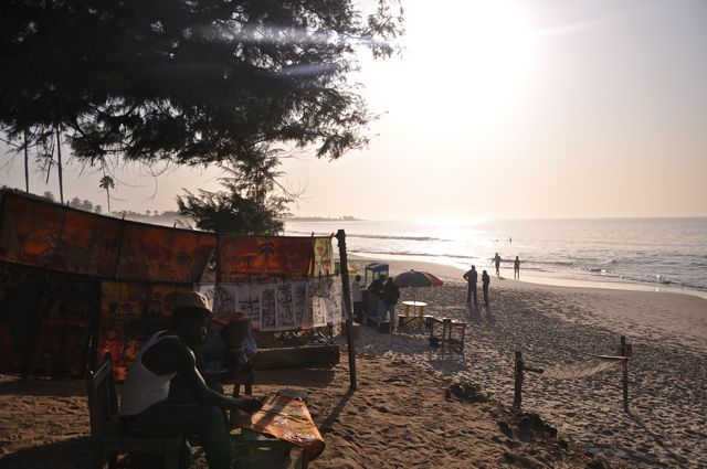 Beach in Bacau, gambia-Africa