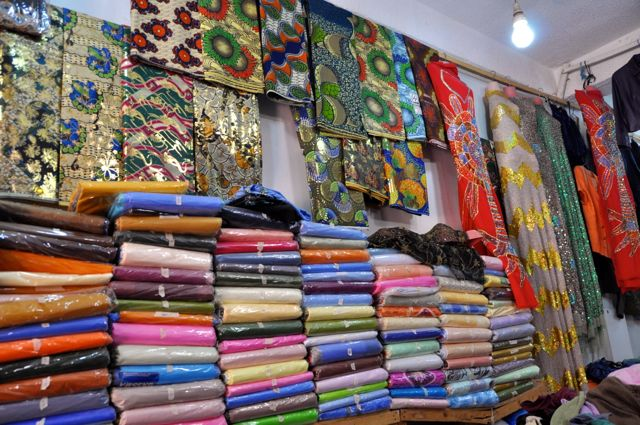Fabric store in Gambia