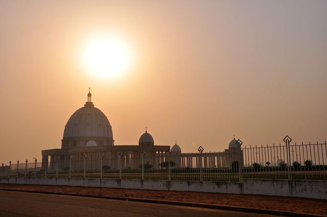 The Basilica of Our Lady of Peace of Yamoussoukro (French- Basilique Notre-Dame de la Paix de Yamoussoukro