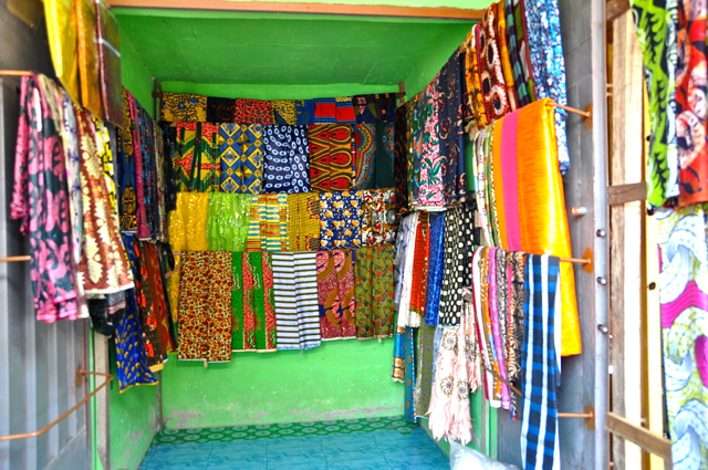 Clothing fabric stores