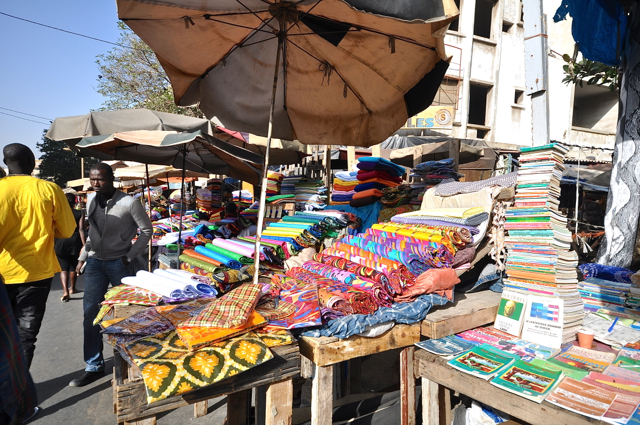 facbrics market in Dakar-senegal