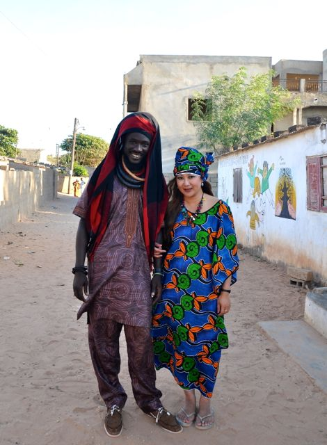 heading to a furneral in senegal