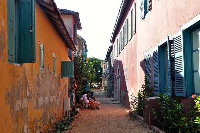 main street of goree island