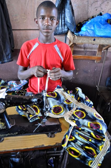 tailoring making African clothes in Gambia