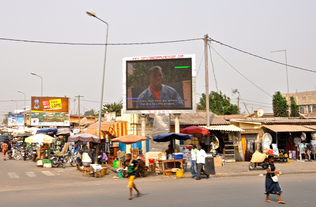 big screen TV in lome, Togo