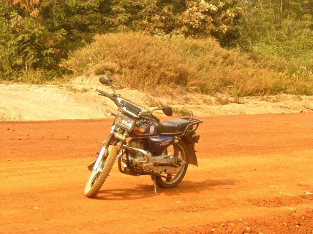 motorcycle at ghana