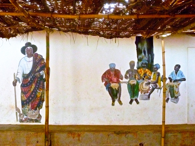 voodoo chief at ouidah