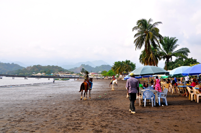 beach front at limbe, cameroon