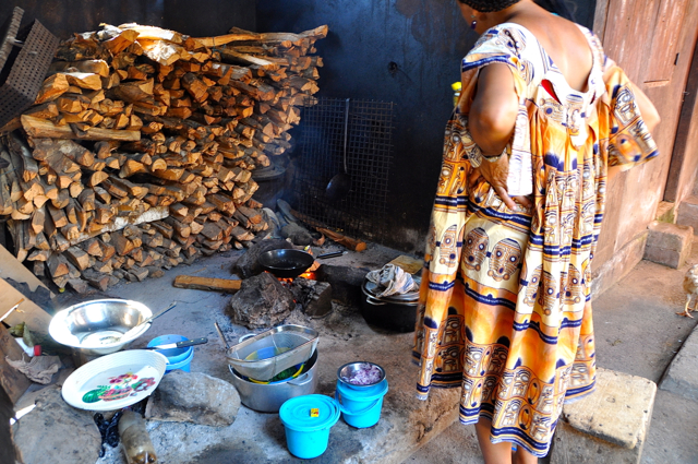 cooking Ndole, cameroon food