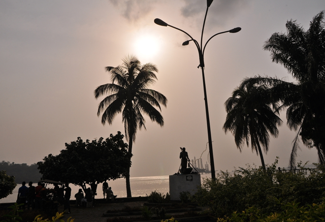 dawn at limbe, cameroon